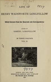 Cover of: Life of Henry Wadsworth Longfellow