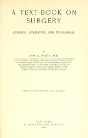 Cover of: A text-book on surgery
