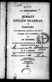 Cover of: An abridgement of Murray's English grammar and exercises