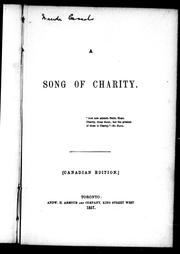 Cover of: A song of charity