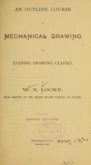 Cover of: An outline course in mechanical drawing for evening classes
