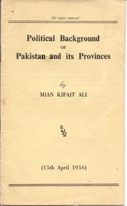 Cover of: Political Background of Pakistan and its Provinces