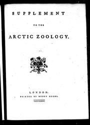 Cover of: Supplement to the arctic zoology