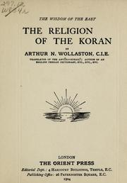 Cover of: The religion of the Koran