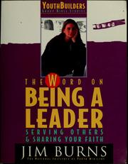 Cover of: The word on being a leader