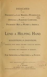Cover of: A book of inventions for railroad companies and for the people