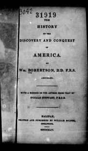 Cover of: The history of the discovery and conquest of America