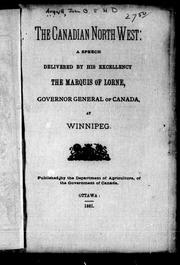 Cover of: The Canadian North West