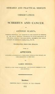 Cover of: Remarks and practical results of observation on scirrhus and cancer