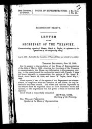 Cover of: Letter of the secretary of the treasury