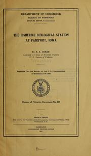 Cover of: The Fisheries Biological Station at Fairport, Iowa