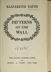 Cover of: Patterns on the wall