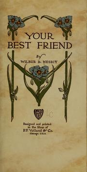 Cover of: Your best friend