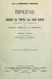 Cover of: Tripolitania