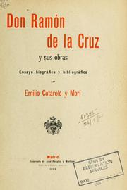 Cover of: Don Ramón de la Cruz y sus obras