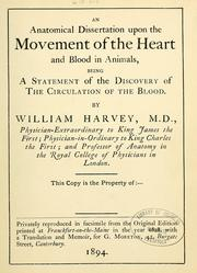 Cover of: An anatomical dissertation upon the movement of the heart and blood in animals
