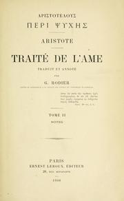Cover of: Traité de l'ame