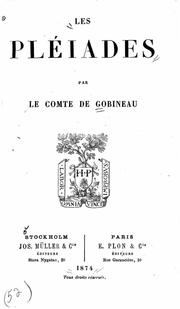 Cover of: Les Pléïades