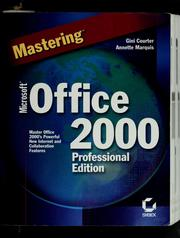 Cover of: Mastering Microsoft Office 2000 professional edition