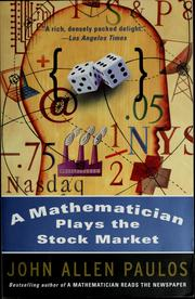 Cover of: A mathematician plays the stock market