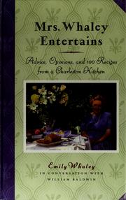 Cover of: Mrs. Whaley entertains
