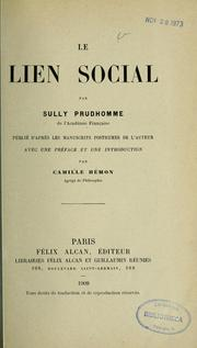 Cover of: Le Lien social