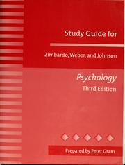 Cover of: Study guide for Zimbardo, Weber, and Johnson Psychology