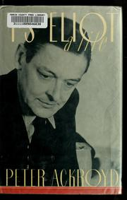 Cover of: T.S. Eliot