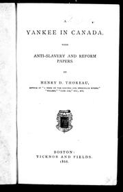 Cover of: A Yankee in Canada: with Anti-slavery and reform papers.