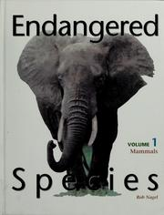 Cover of: Endangered species