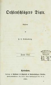 Cover of: Oehlenschlägers digte