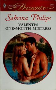 Cover of: Valenti's one-month mistress