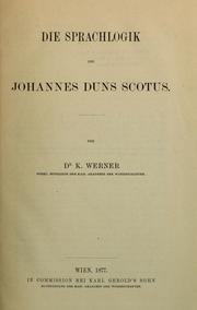 Cover of: Die Sprachlogik des Johannes Duns Scotus