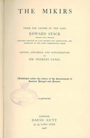 Cover of: The Mikirs, from the papers of the late Edward Stack