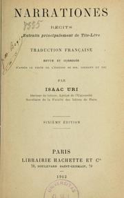 Cover of: Narrationes: récits extraits principalement de Tite-Live