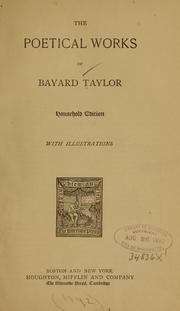 Cover of: The  poetical works of Bayard Taylor
