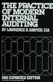 Cover of: The practice of modern internal auditing