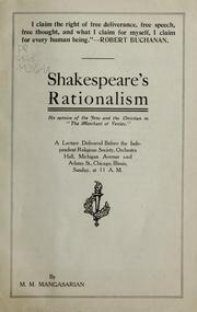 Cover of: Shakespeare's rationalism