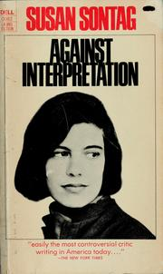 Cover of: Against Interpretation: and other essays