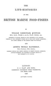 Cover of: The life-histories of the British marine food-fishes