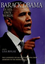 Cover of: Barack Obama in his own words