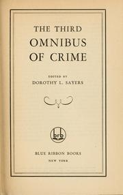 Cover of: The third omnibus of crime