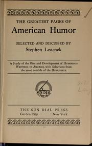 Cover of: The greatest pages of American humor