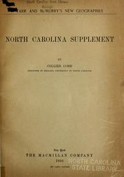 Cover of: North Carolina supplement