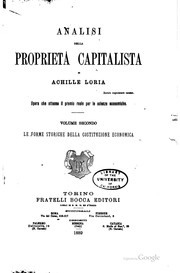 Cover of: Analisi della proprietà capitalista