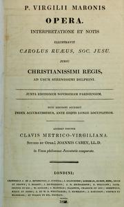 Cover of: P. Virgilii Maronis Opera