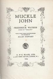 Cover of: Muckle John
