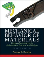 Cover of: Mechanical behavior of materials