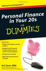 Cover of: Personal Finance in Your 20s for Dummies