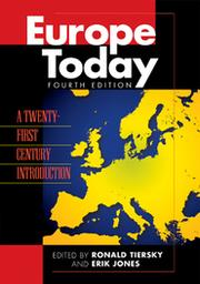 Cover of: Europe today